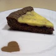 torta al cioccolato con crema e marmellata