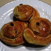 ricetta Brioches con uvetta