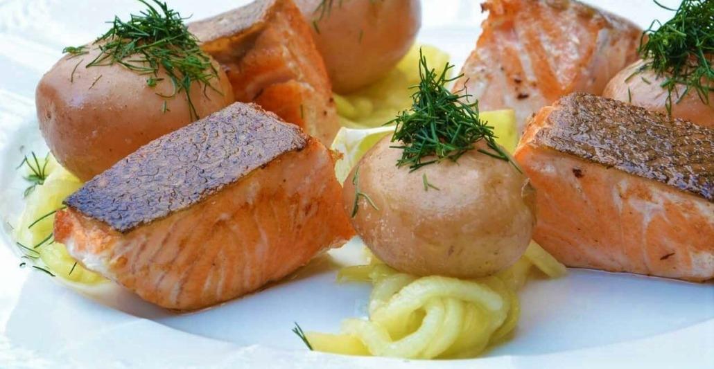 salmone e patate